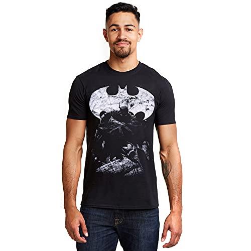 DC Comics Dark Knight Camiseta, Negro (Black Blk), Medium (Talla del Fabricante: Medium) para Hombre