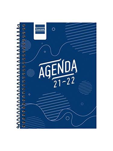 Finocam Agenda 2021 2022 Semana vista apaisada Septiembre 2021, Junio 2022 10 meses y Julio/Agosto resumidos 8º, 120x162 Cool Azul Español