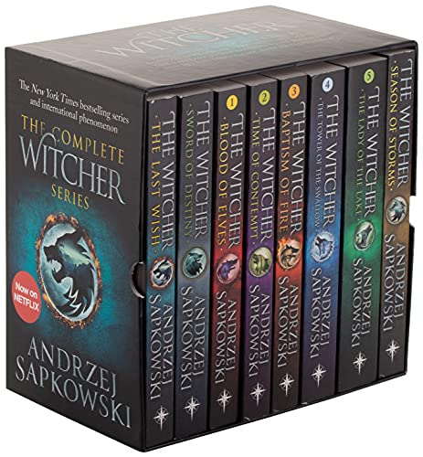 The Witcher Boxed Set: The Last Wish, Sword of Destiny, Blood of Elves, Time of Contempt, Baptism of Fire, The Tower of The Swallow, The Lady of the Lake, Season of Storms: 1-8
