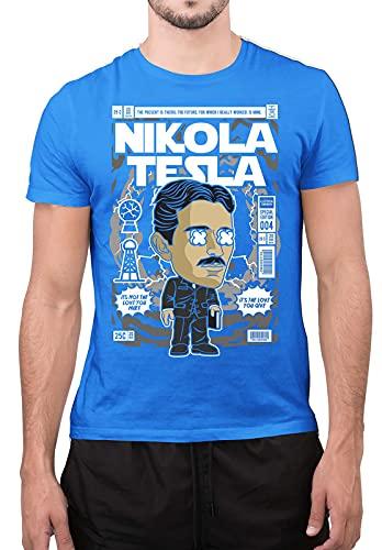 Nikola Tesla - Camiseta unisex con diseño de cómics