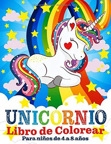 Unicornio Libro de Colorear para Niños de 4 a 8 Años