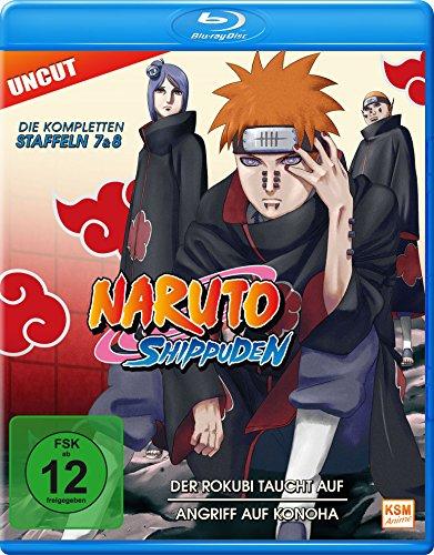 Naruto Shippuden - Der Rokubi taucht auf / Angriff auf Konoha (Staffel 7+8: Folge 364-395 - UNCUT) [Blu-ray] [Francia]