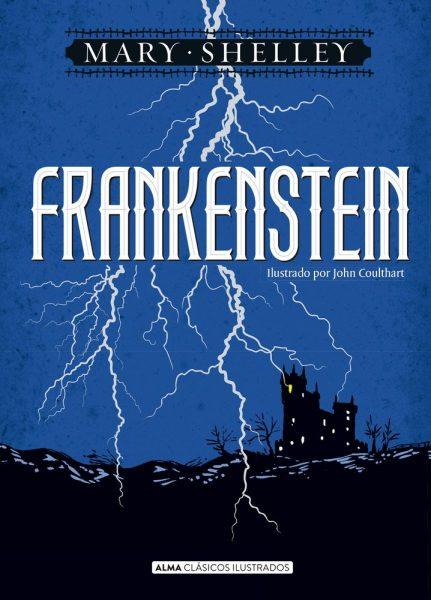 Frankestein, libro ilustrado escrito por Mary Shelley