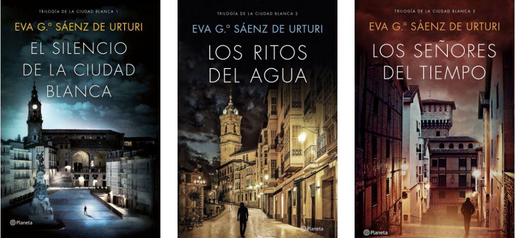 Trilogía de la Ciudad Blanca, orden, tres novelas, El silencio de la ciudad blanca, Los ritos del agua y Los señores del tiempo, pack