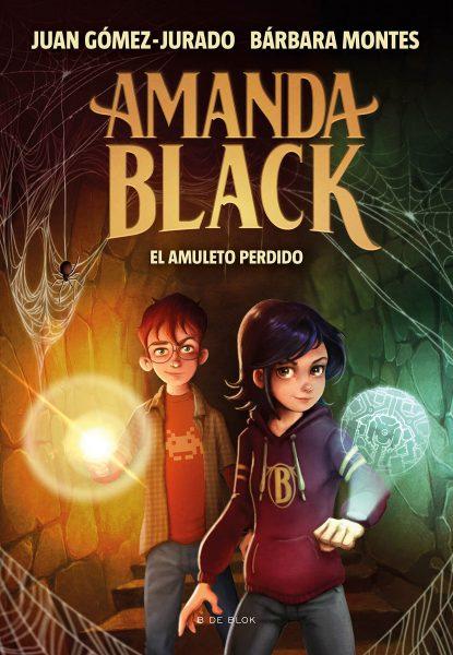 El Amuleto perdido, Amanda Black 2, portada libro infantil