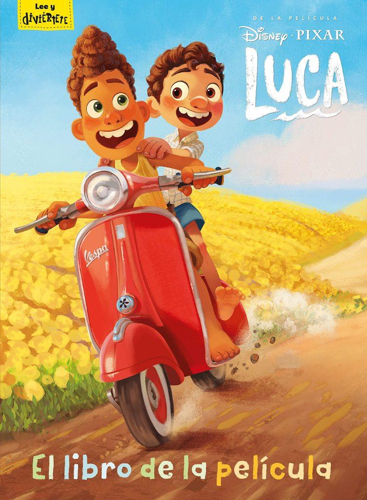 Portada de Luca, libro de la película de Disney